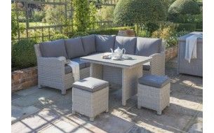 Kettler Palma Mini Corner Set With Slat Top Table
