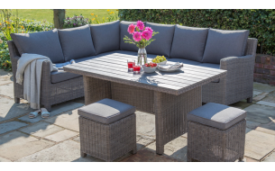 Kettler Palma Casual Dining Corner Set with Slat Top Table